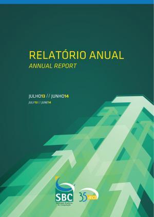 Capa para Relatório Anual da SBC 2014-2015